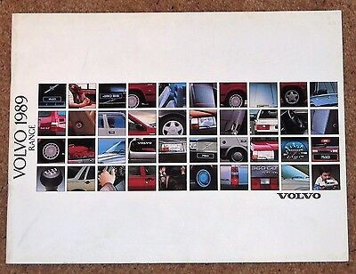 1989 VOLVO RANGE Sales Brochure - 240 740 760 Saloon & Estate, 480ES 340 360