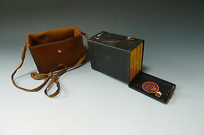 Vintage AGFA box brownie camera WITH FILM and case