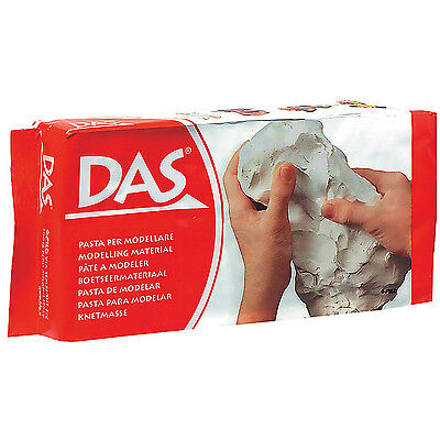 White Air Dry Clay DAS Modelling Sculpting No Baking Self Hardening 500g