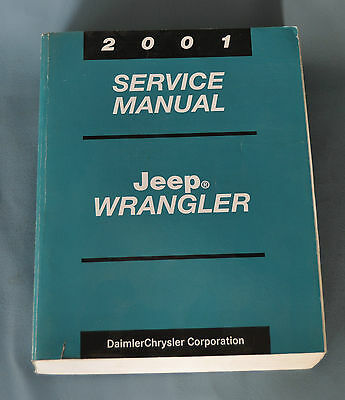 2001 Jeep Wrangler TJ Factory OEM Service Shop Repair Manual