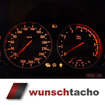 Speedometer disc BMW E38-39/E53/X5 in M5-Style 300 Kmh Petrol M5