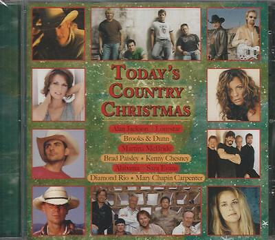Music CD Today's Country Christmas New Chesney Jackson Alabama Paisley Lonestar