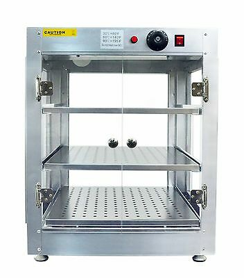Commercial 20 x 20 x 24 Countertop Food Pizza Pastry Warmer Wide Display Case 1