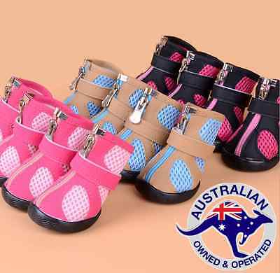 Dog Cat Shoes waterproof Pink, Blue, Black  Boots Booties Paws Injury