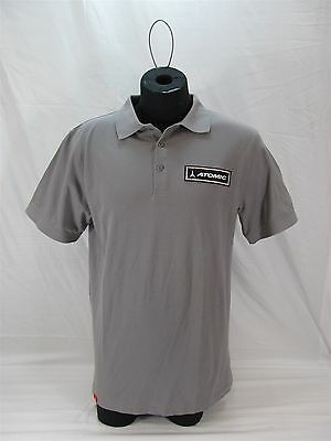 Atomic Core Polo Shirt Grey Size Medium New With Tags