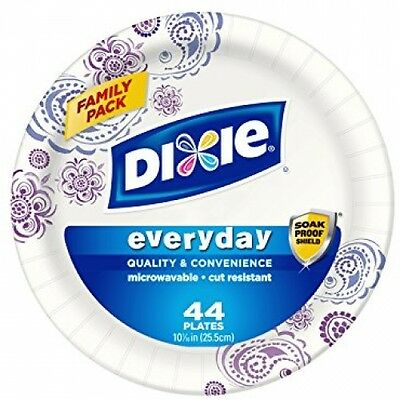 Dixie HD Paper Plates, 10 1/16 Inches, 44 Count (Pack Of 5)