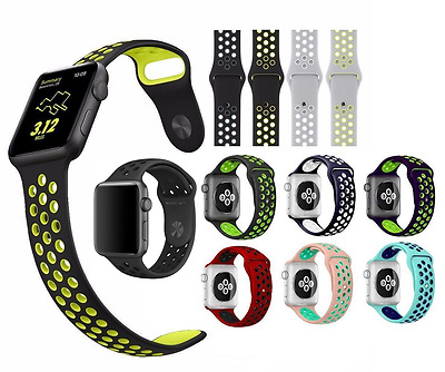 New Silicon Replacement Sports Bracelet Strap Band for Apple Watch Series 2 / 1