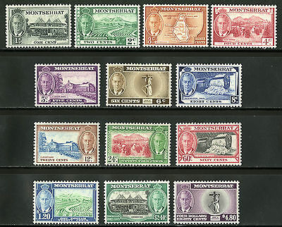 Montserrat   1951   Scott # 114-126   Mint Lightly Hinged Set