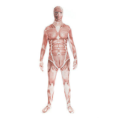 Adult Mens Fancy Dress MORPHSUIT DELUXE HALLOWEEN COSTUME PARTY Size M - XXL