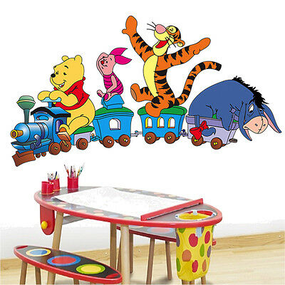 Train Winnie The Pooh And Friends Vinyl Wall Sticker Decals Children Room 124
