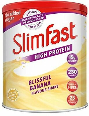 Slim Fast Banana Diet Powder Meal Replacement Fitness Protein Shake Weight Loss