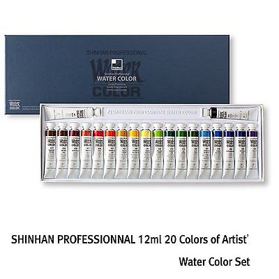 Watercolour Paint Shinhan Set Professional 20 Colours 12ml Tube Artist Drawing