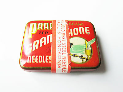 Grammophon NADELDOSE PARROT - OVP ! gramophone needle tin STILL SEALED !