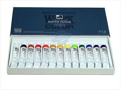 Shinhan Professional Watercolour Paint Set 13 Colours 7.5ml Tube Artist Drawing