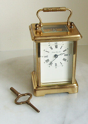 London Clock Co Brass 11 Jewel Carriage Clock Made in France