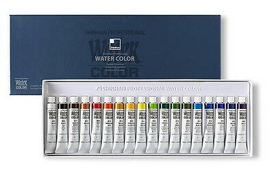 Shinhan Professional Watercolour Paint Set 18 Colours 7.5ml Tube Artist Drawing