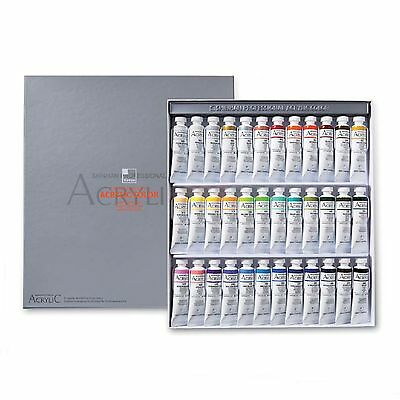 Acrylic Colour Paint Set Shinhan Professional 36 Colours 20ml Tube Drawing
