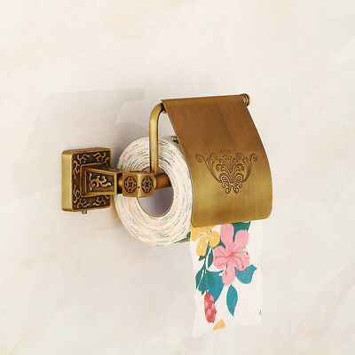 Roll&Tissue Antique Brass Solid Brass Wall Mounted Toilet Paper Holder