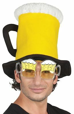 Adults Beer Shaped Glasses Oktoberfest Beerfest Stag Do Fancy Dress Accessory