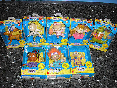 Set of 8 Rugrats Slumber Party Adventure Doll Toys 1998 All new in box!
