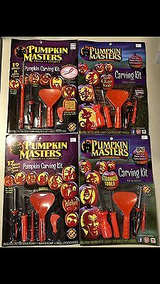 Lot of 4 PUMPKIN MASTERS carving kit - 2012-2015 editions - catch up asst. - NEW