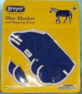 Breyer Model Horse Accessories Blue Blanket and Shipping Boots
