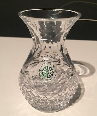 *** Galway Crystal Cut Glass Vase - 11cm Tall ***