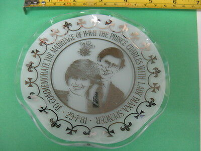 Chance Glass~Prince Charles With Lady Diana Spencer1981~Marriage Plate~Glass