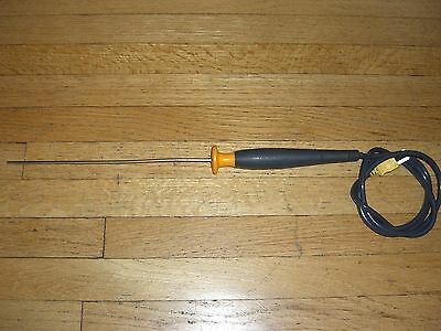 Fluke 80PK-22 Immersion k-type Thermocouple Temperature Probe **TESTED to 170C**
