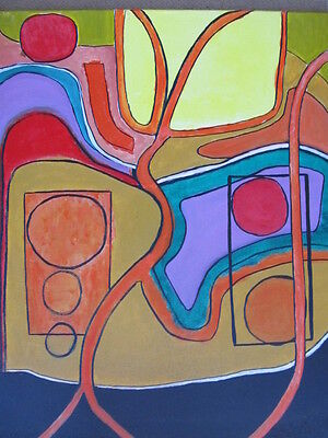 ABSTRACT PAINTING MODERNIST Bay Area EXPRESSIONISM Dr Gross JEWISH ARTIST LISTED