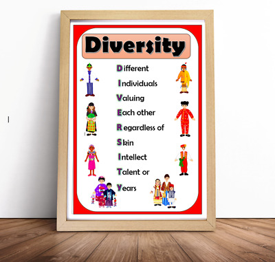 multicultural A4 diversity equality poster nursey childminder school OFSTED