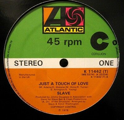 """Slave Just A Touch Of Love 12"""" Classic  Disco/funk/boogie Uk 1979 Press Ex/ex"""