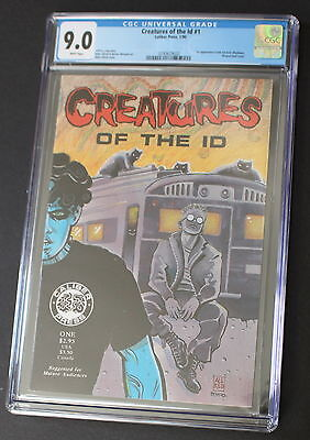 CREATURES OF THE ID 1 Caliber 1st Frank Einstein MADMAN 1990 Mike ALLRED CGC 9.0