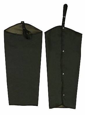 New Wax Studded Chaps Leggings Waterproof Over Trousers Shooting Fishing Hunting