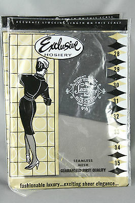 Exclusive Hosiery Nylon Stockings Seamless Micro Mesh Size 9.5 Med Charcoal 2 Pr