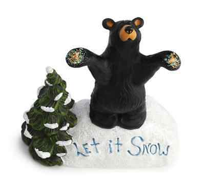 Let it Snow Figurine, Bearfoots, Big Sky Carvers, Jeff Fleming, Demdaco