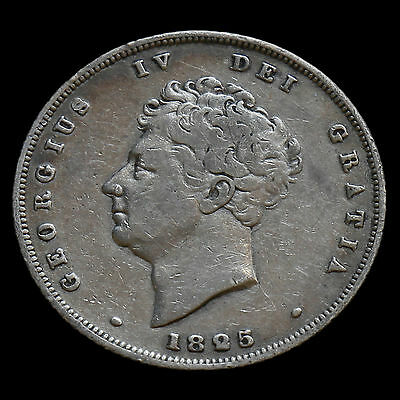 1825 George IV Bare Head Milled Silver Shilling – AVF