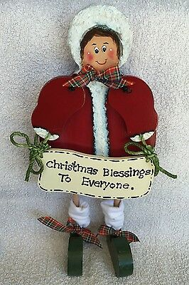 Christmas Blessings to Everyone,Self Standing,Mary with sign,27cm x 13cm x 1.6cm