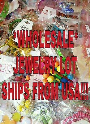 Wholesale Fashion Jewelry Lot of 50 Pcs Brand New Resale or Gift SHIPS FROM USA!