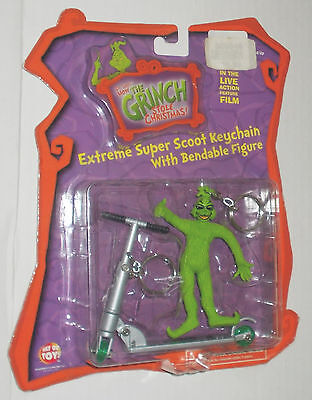 How the GRINCH Stole Christmas - Extreme Super Scoot KEYCHAIN w/ Bendable Figure