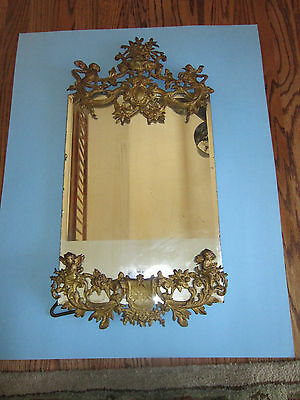 Superb Large French Bronze Frame or Mirror, 19Th. C.Louis XV Style Easle Style