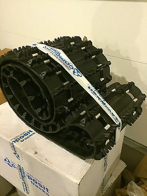 """New Composit T28 snowmobile track 121 X 15 X 1.1"""" Lug, Fully Clipped"""
