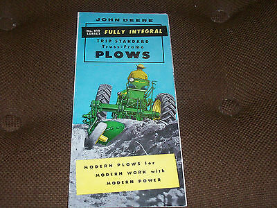 1956 John Deere 810 Series Integral Plow Brochure for 520 620 720 Tractor