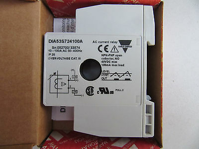 Carlo Gavazzi DIA53S724100A AC Curent Relay DIA53S NEW!!! in Box Free Shipping