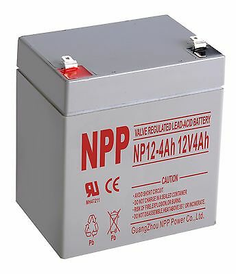 NPP 12V 4Ah Rechargeable Battery Replace PC1250 UB1250 CA1240 BP5-12 ES4-12  F1