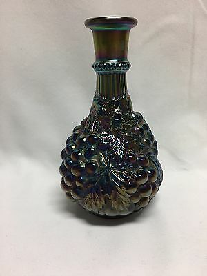 Imperial Amethyst Carnival Glass Grape Decanter No Stopper