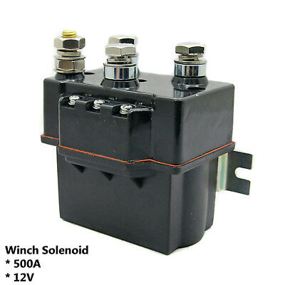 1pcs DD Winch Relay Solenoid 12V 500A Up To 16800LB Truck Recovery 4X4 4WD
