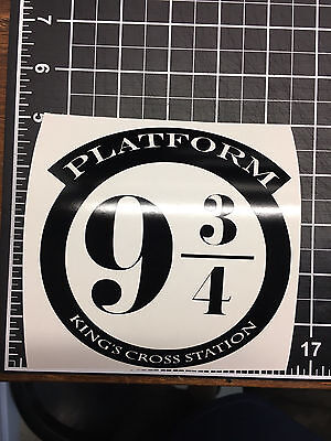 platform 9 3/4 Harry Potter Train vinyl sticker white or black