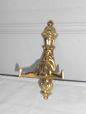 Vintage French bronze WALL coat Rack w/ 2 HOOKS