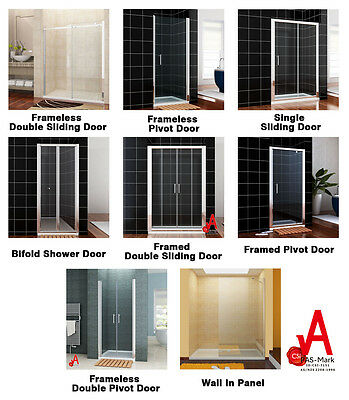 Shower Screen Bifold/Pivot/Sliding Door/Wall In Shower Panel Various Style&Size